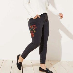Loft Plus Embroidered Skinny Jean Size 18